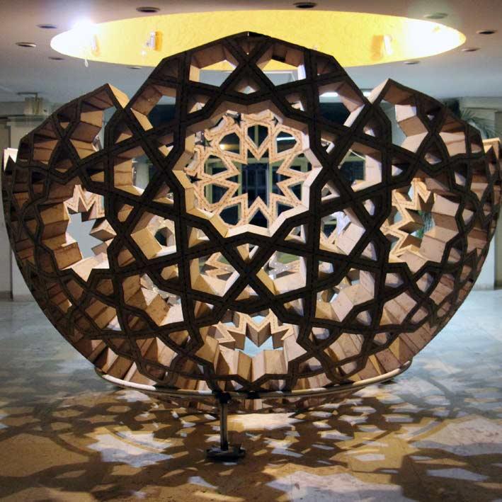Algorithmic Design of Islamic Parquet | تبدیل گره کند 10 به تند 10 روی سطح کره