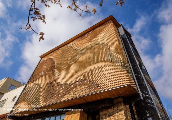 Revolving Bricks Serai in Arak Iran Brick Facade design 5