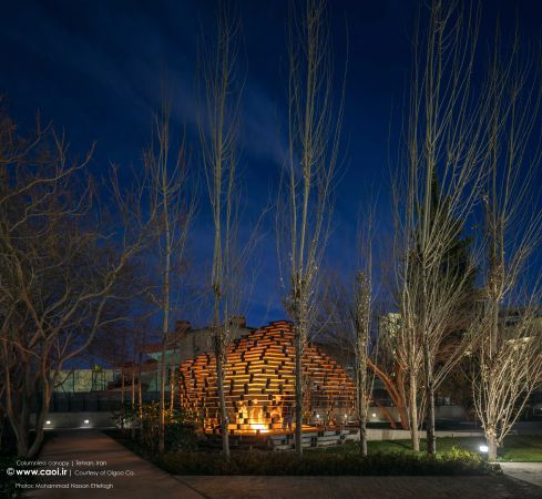 Columnless canopy in Tehran by Olgoo Architecture Office Iranian Architecture  21