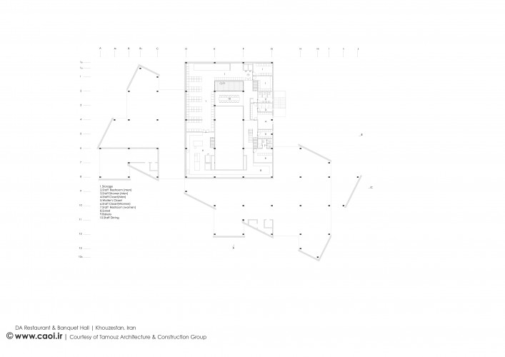 DA Restaurant and Banquet Hall in Khuzestan province Iran Mezzanine Floor Plan