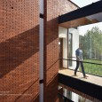 Brick Pattern House in Royan Mazandaran Brick Architecture  10