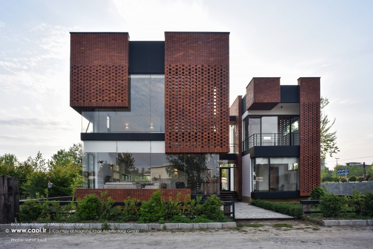 Brick Pattern House in Royan Mazandaran Brick Architecture  1