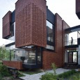 Brick Pattern House in Royan Mazandaran Brick Architecture  3