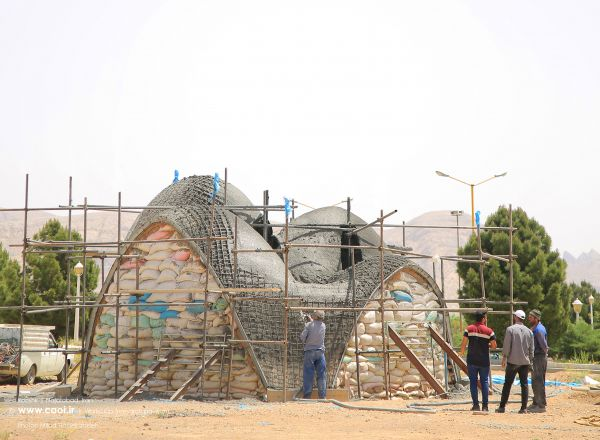 Kooshk research pavilion in Iran Student research workshop Construction Photos  20