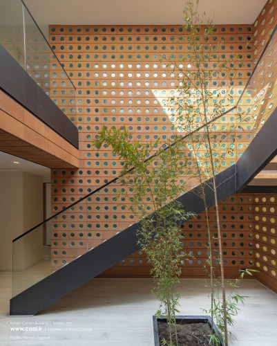 Kohan Ceram Central Office Building in Tehran Hooba Design Brick Architecture  29