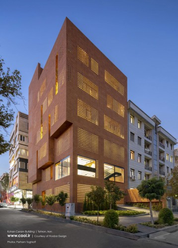 Kohan Ceram Central Office Building in Tehran Hooba Design Brick Architecture  7