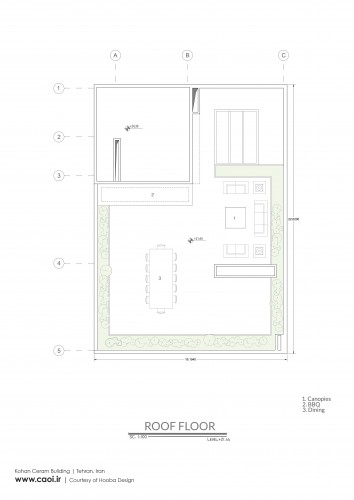 Roof Floor Plan Kohan Ceram Building
