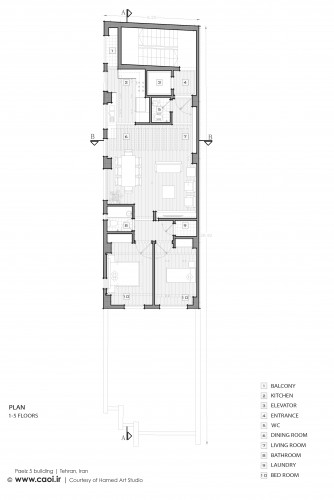 Paeiz 5 residential building Tehran by Hamed Art Studio  41