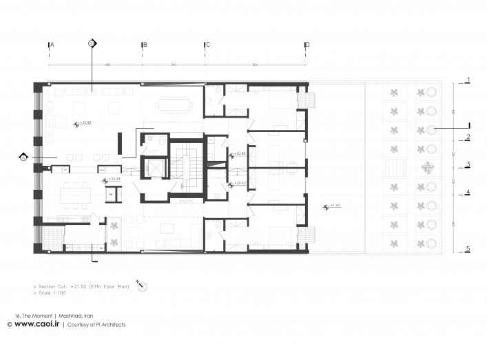 16 The Moment Fifth Floor Plan