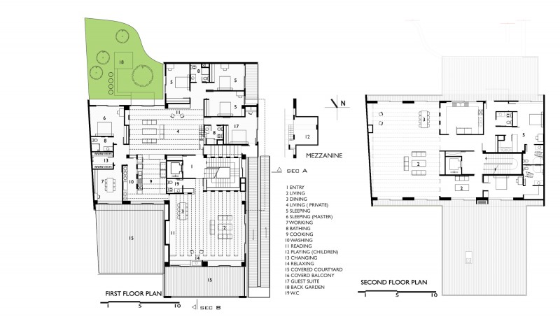 Sohanak a house for an extended family for Extended family house plans