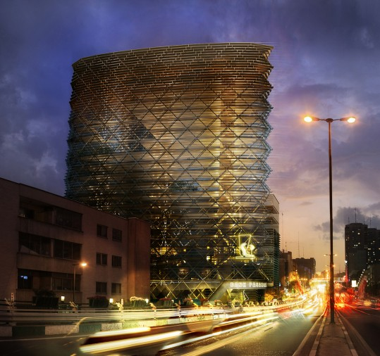 Pasargad Bank Headquarters in Tehran by Naghshe Mandegar Co.   RMM Architects Office  1