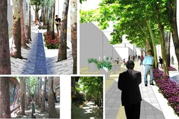Landscape Design of Bazaar in Mahallat